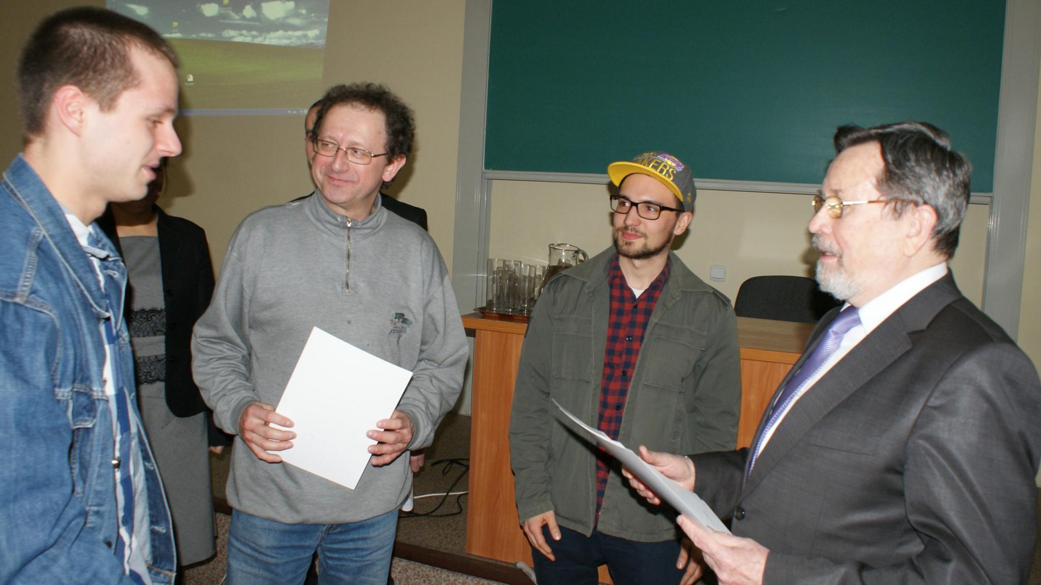 Laureaci nagrody specjalnej - studenci kierunku Kulturoznawstwo