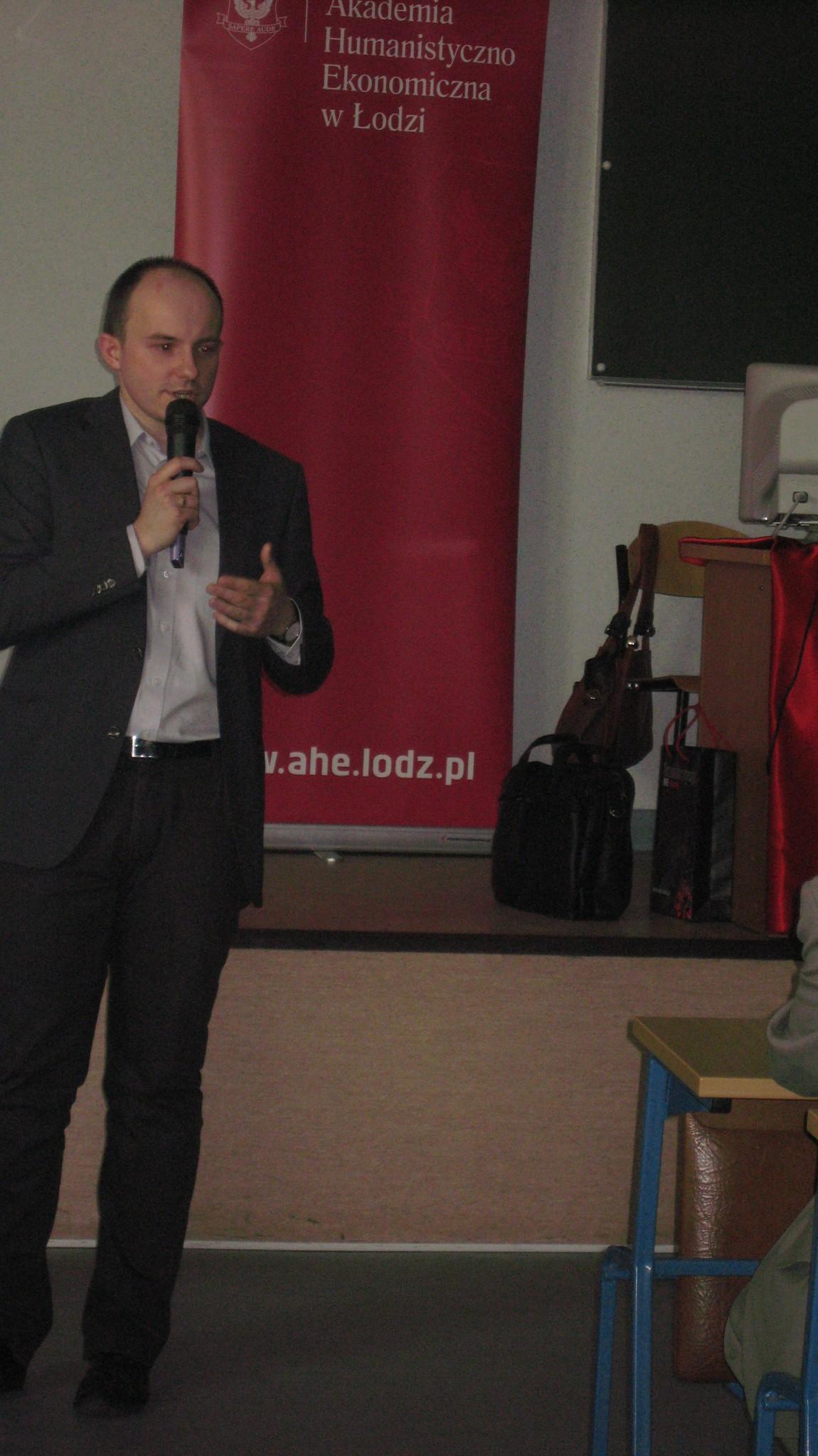 mgr Marcin Solarek, Zastępca Kanclerza Akademii Humanistyczno-Ekonomicznej w Łodzi