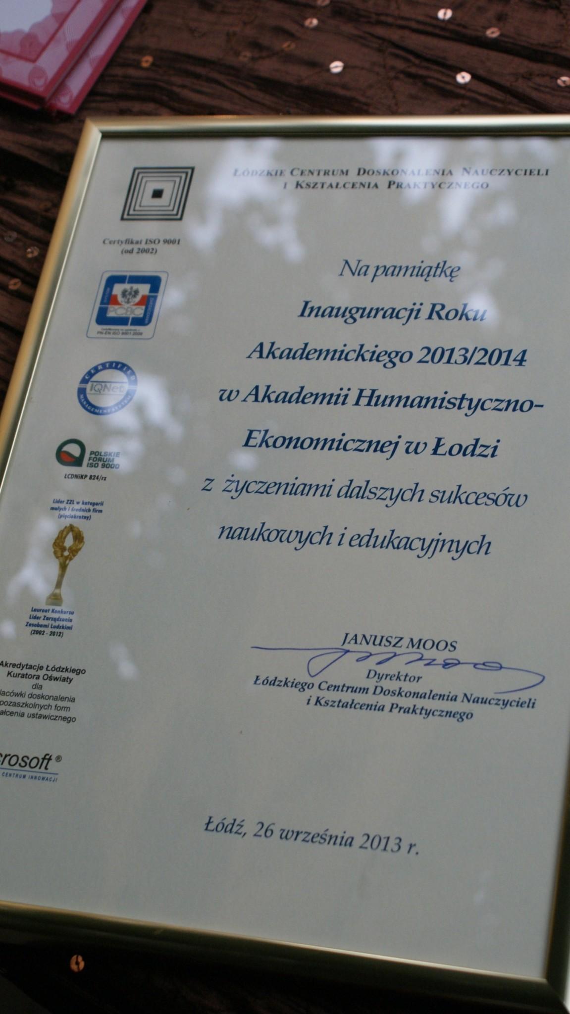 Inauguracja Roku Akademickiego - Patio 8