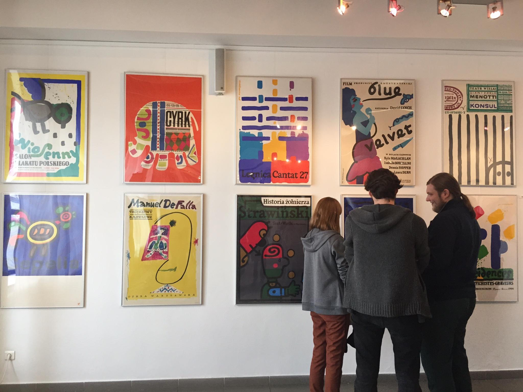 Wystawa plakatów w AHE w Łodzi