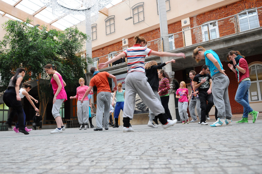Występ tancerzy AHE w Łodzi