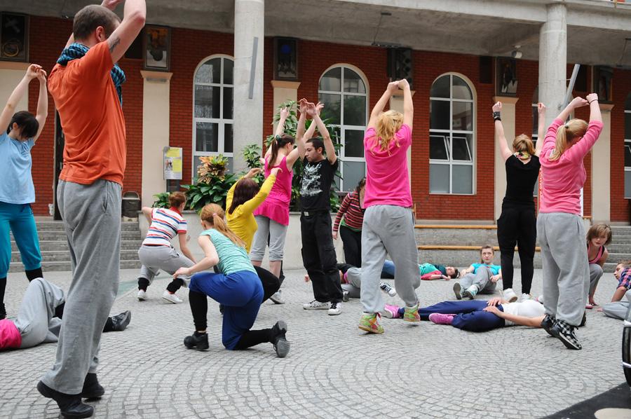 Performance w Patio w AHE w Łodzi