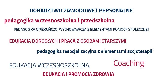 specjalności kierunku pedagogika