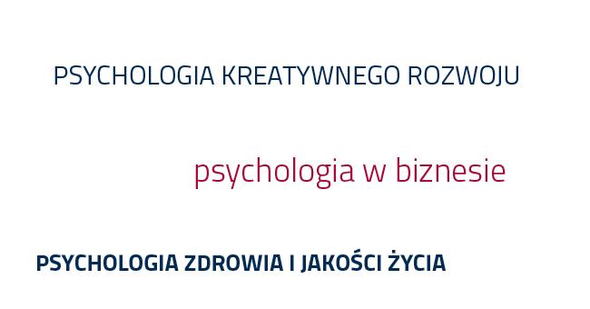 specjalności kierunku psychologia