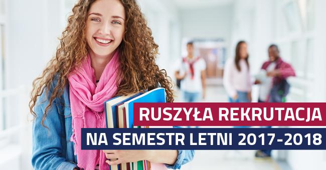 REKRUTACJA na semestr letni 2017/2018