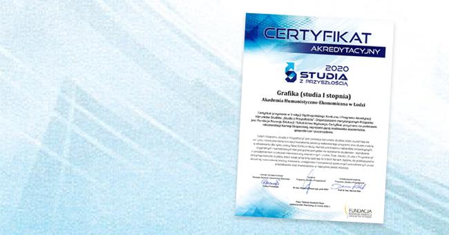 Prestżowy certyfikat studia z przyszłością