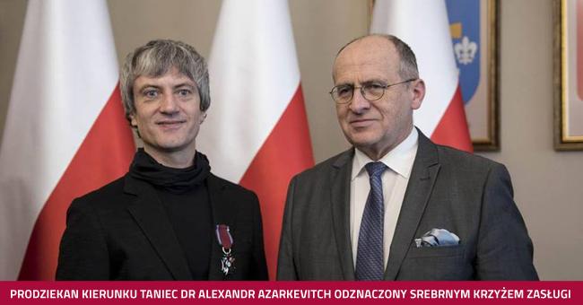 Odznaczenie dla Prodziekana kierunku taniec dr. Alexandra Azarkevitcha