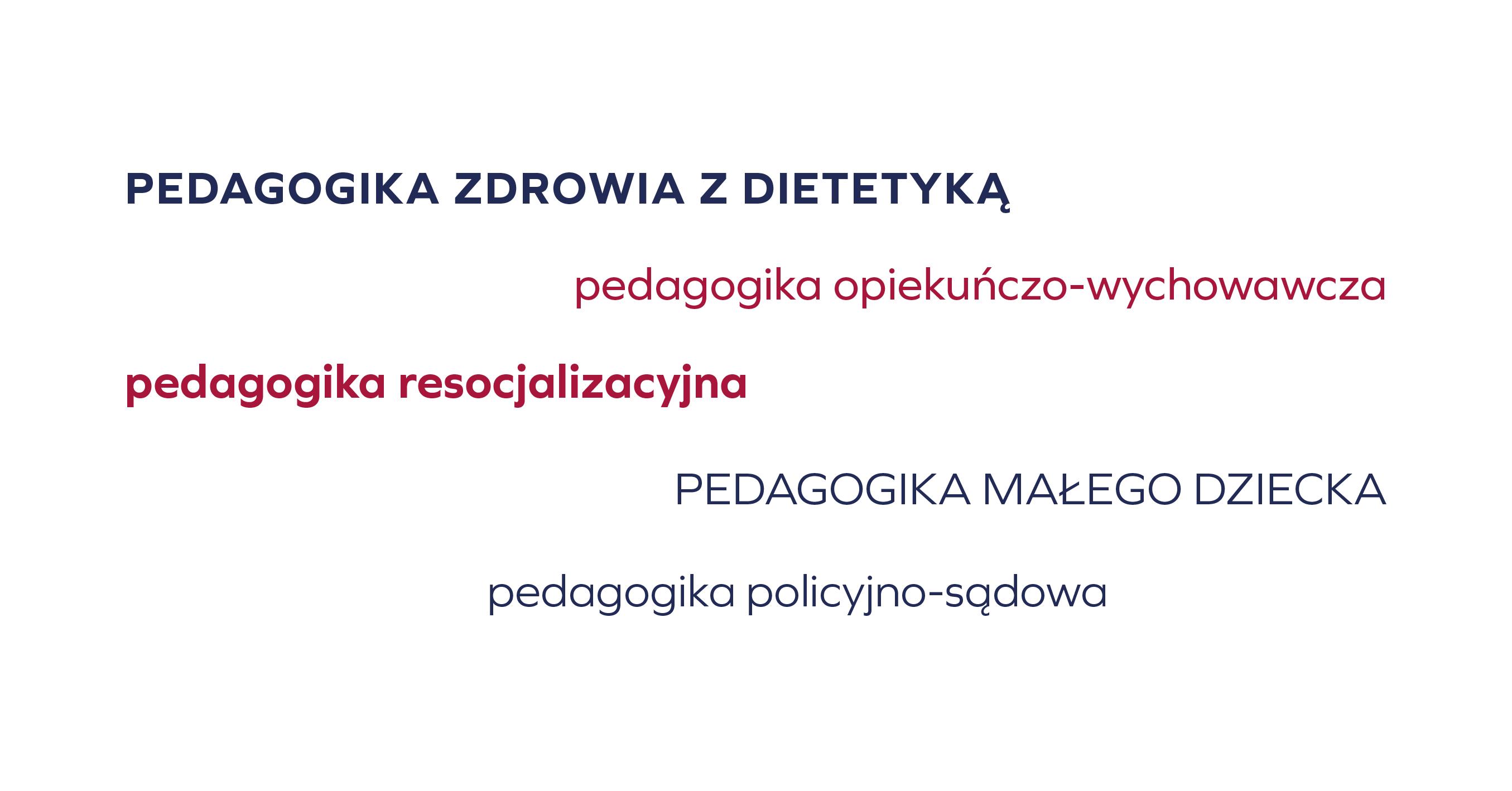 pedagogika - Wodzisław - specjalności