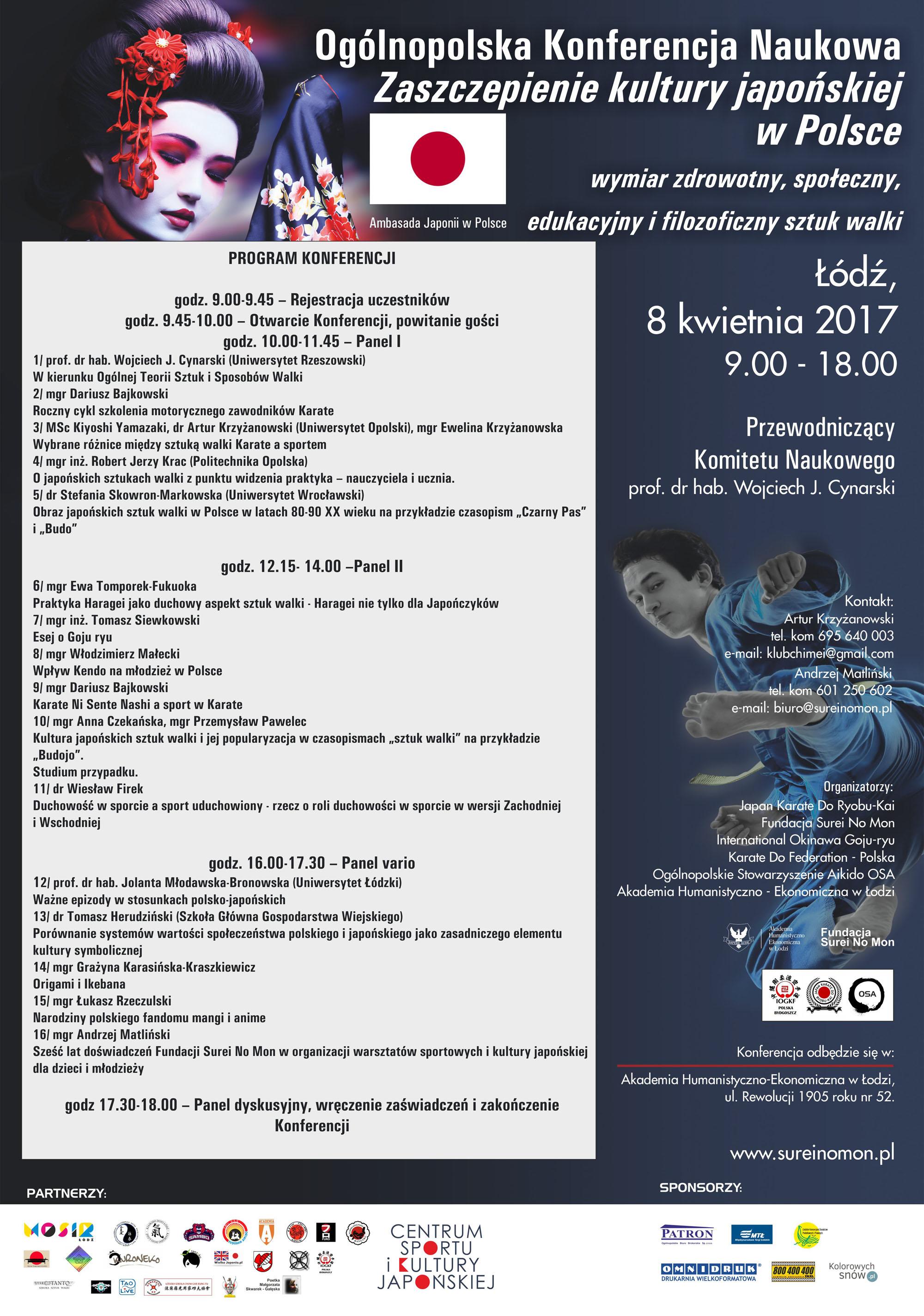 Zaszczepienie Kultury Japońskiej w Polsce – wymiar zdrowotny, społeczny, edukacyjny i filozoficzny sztuk walki.