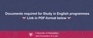 Documents required for Study in English programmes